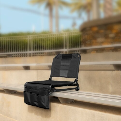 Creative Outdoor 2 in 1 Bleacher Folding Chair - Black Perspective: right