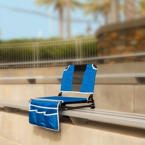 Creative Outdoor 2 in 1 Bleacher Folding Chair - Blue/Black Perspective: right