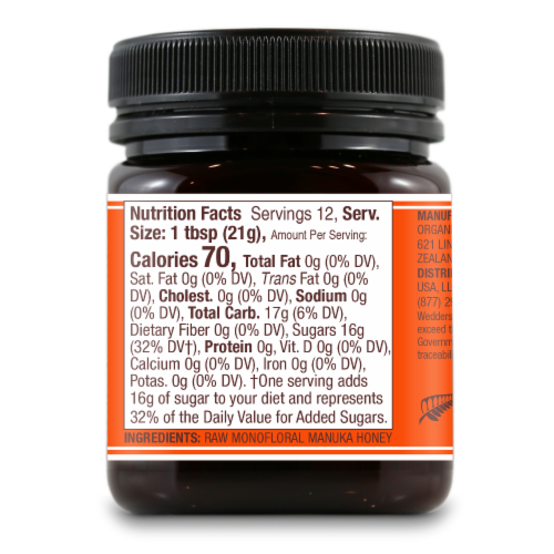 Wedderspoon 100% Raw Manuka Honey Perspective: right