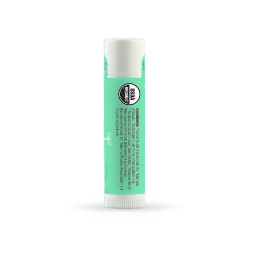 Wedderspoon Organic Peppermint Lip Care Perspective: right