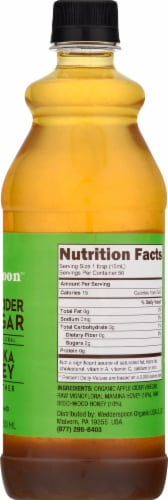 Wedderspoon  Raw Apple Cider Vinegar with KFactor™ 16 Manuka Honey and The Mother Perspective: right