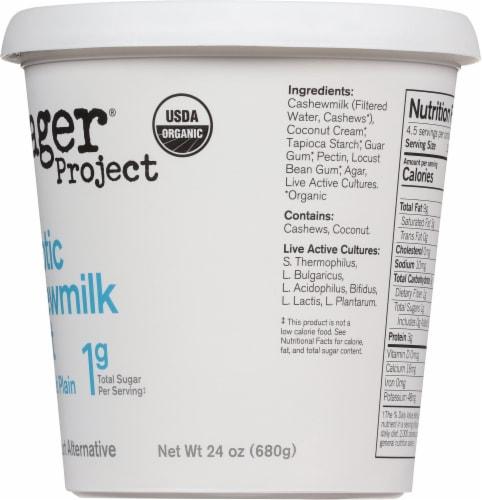 Forager Project Organic Dairy-Free Unsweetened Plain Cashewmilk Yogurt Alternative Perspective: right