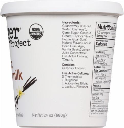 Forager Project Organic Dairy-Free Vanilla Cashewmilk Plant-Based Yogurt Perspective: right