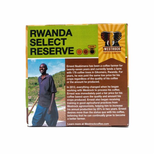 Westrock Coffee Rwanda Select Reserve Single Serve Cups Perspective: right