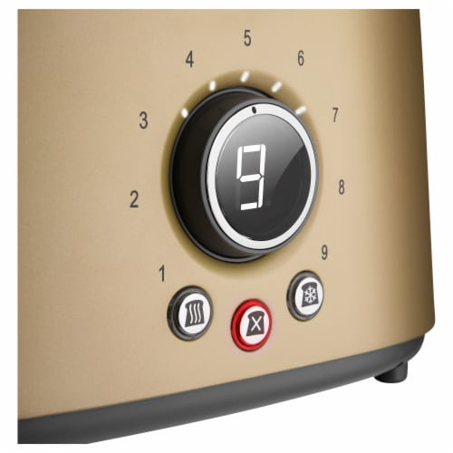 Sencor 2-Slot Toaster with Digital Button and Rack - Champagne Perspective: right