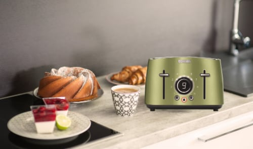 Sencor 4-Slot Toaster with Digital Button and Rack - Light Green Perspective: right