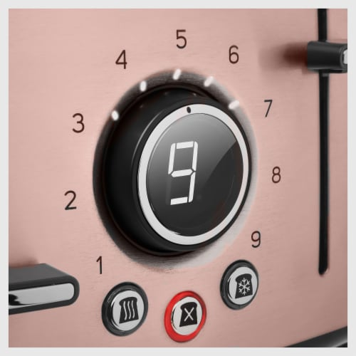 Sencor 4-Slot Toaster with Digital Button and Rack - Pink Perspective: right