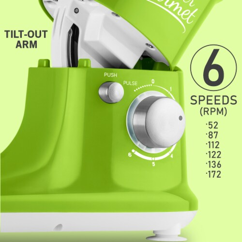 Sencor Stand Mixer with Pouring Shield - Green Perspective: right