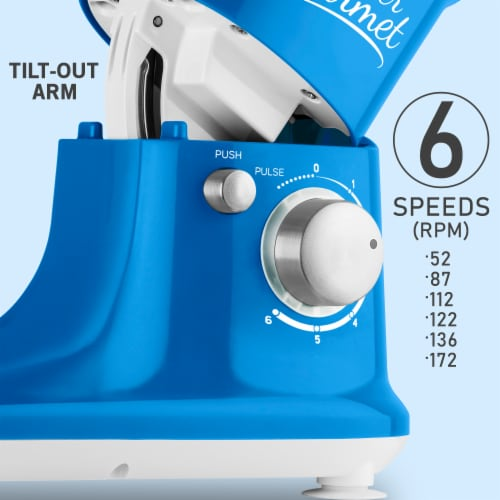 Sencor Stand Mixer with Pouring Shield - Blue Perspective: right