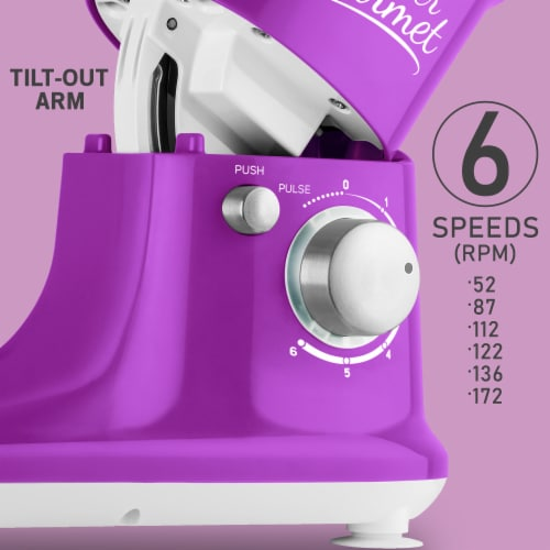 Sencor Stand Mixer with Pouring Shield - Violet Perspective: right