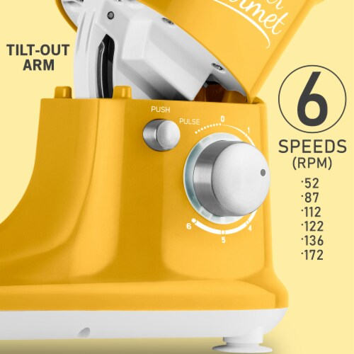 Sencor Stand Mixer with Pouring Shield - Yellow Perspective: right