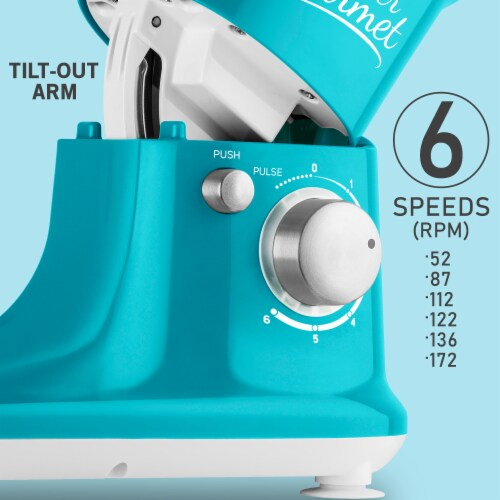 Sencor Stand Mixer with Pouring Shield - Turquoise Perspective: right