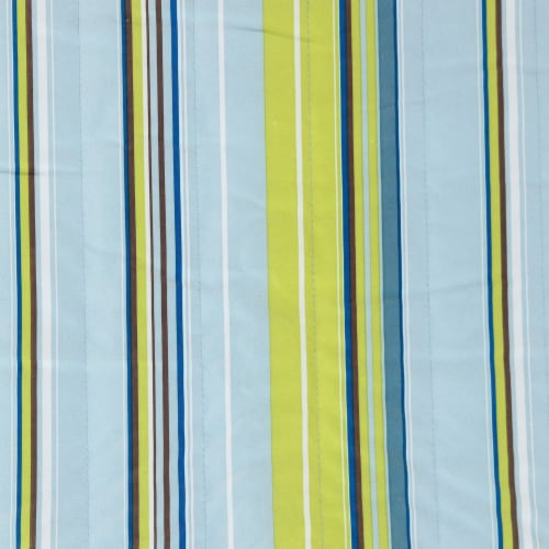 Sunnydaze Blue and Green Quilted Fabric Hammock with Multi-Use Universal Stand Perspective: right