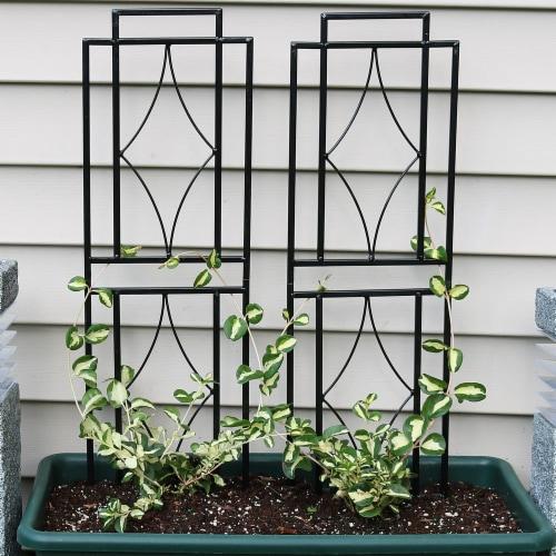 "Sunnydaze 30"" Durable Metal Wire Contemporary Garden Trellis for Plants-Set of 2 Perspective: right"