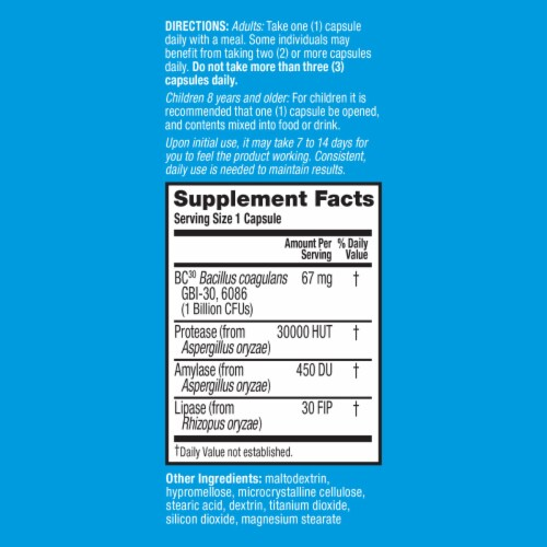 Digestive Advantage Intensive Bowel Support Probiotic Digestive Health Capsules 32 Count Perspective: right