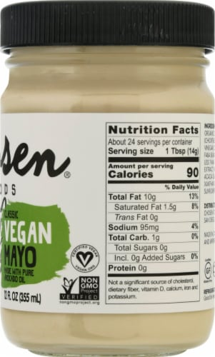 Chosen Foods Vegan Avocado Oil Mayo Perspective: right