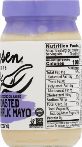 Chosen Foods Pure Avocado Oil Roasted Garlic Mayo Perspective: right