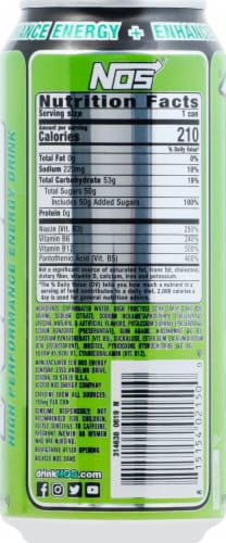 NOS Sonic Sour High Performance Fuel Energy Drink Perspective: right