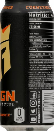 Reign Orange Dreamsicle Energy Drink Perspective: right