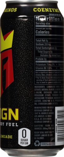 Reign Total Body Fuel Cherry Limeade Energy Drink Perspective: right