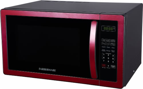 Farberware Classic 1000-Watt Microwave Oven - Metallic Red Perspective: right