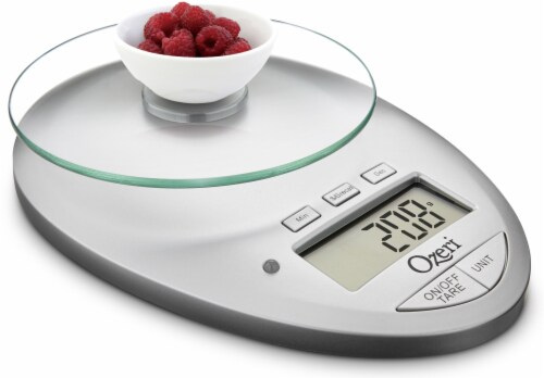 Ozeri Pro II Digital Kitchen Scale with Removable Glass Platform and Kitchen Timer Perspective: right