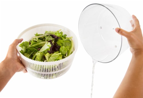 Ozeri Italian Made Fresca Salad Spinner and Serving Bowl, BPA-Free Perspective: right