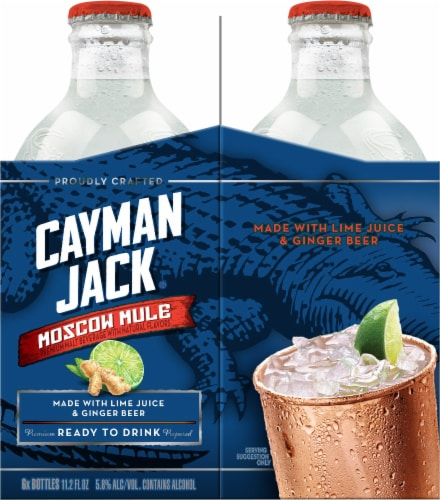 Cayman Jack Moscow Mule Malt Beverage Perspective: right