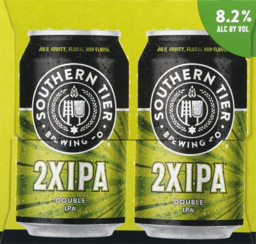 Southern Tier Brewing Company 2X Double IPA Beer 6 Cans Perspective: right