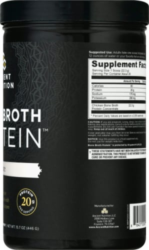 Ancient Nutrition Protein Pure Bone Broth Perspective: right