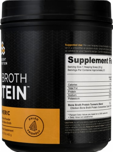 Ancient Nutrition Bone Broth Protein Turmeric Perspective: right