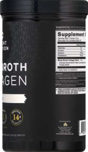 Ancient Nutrition Pure Bone Broth Collagen Powder Perspective: right