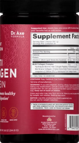 Ancient Nutrition Multi Collagen Protein Dietary Supplement Perspective: right