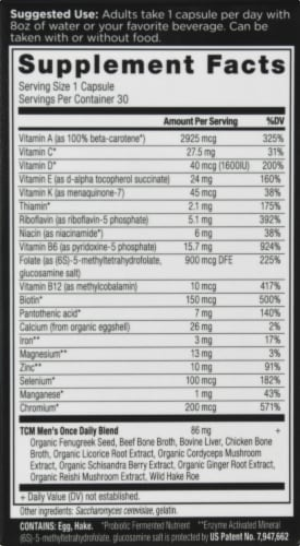 Ancient Nutrition Men's Once Daily Vitamin Capsules Perspective: right