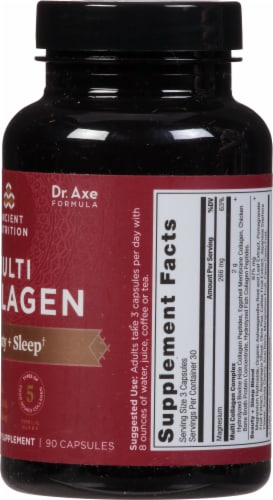 Ancient Nutrition Multi Collagen Protein Beauty + Sleep Capsules Perspective: right