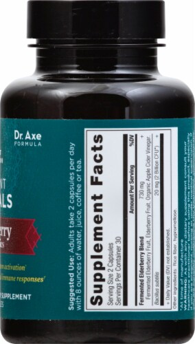 Ancient Nutrition Ancient Herbals Elderberry +Probiotics Capsules 60 Count Perspective: right