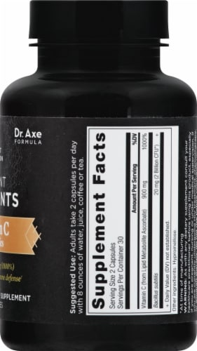 Ancient Nutrition Ancient Nutrients Vitamin C plus Probiotics Capsules Perspective: right