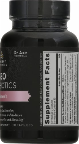 Ancient Nutrition Women's SBO Probiotics Capsules Perspective: right