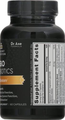 Ancient Nutrition Gut Restore SBO Probiotics Capsules Perspective: right