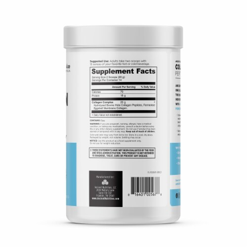 Ancient Nutrition Unflavored Collagen Peptides Dietary Supplement Perspective: right