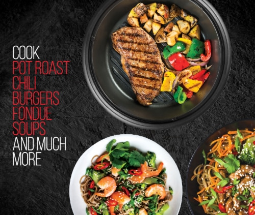 Chefman 3-in-1 Electric Grill Pot & Skillet Perspective: right