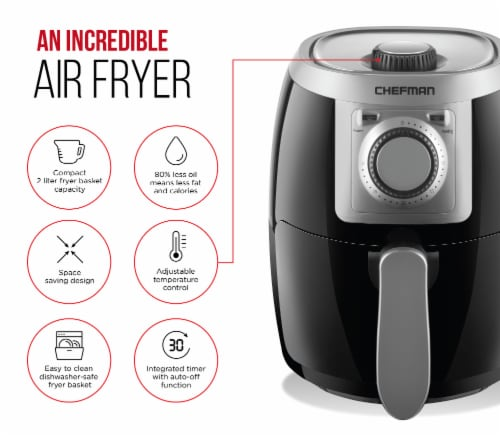 Chefman TurboFry Air Fryer - Black Perspective: right