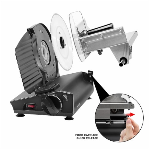 Chefman Stainless Steel Die-Cast Electric Quick Release Meat Slicer - Black Perspective: right