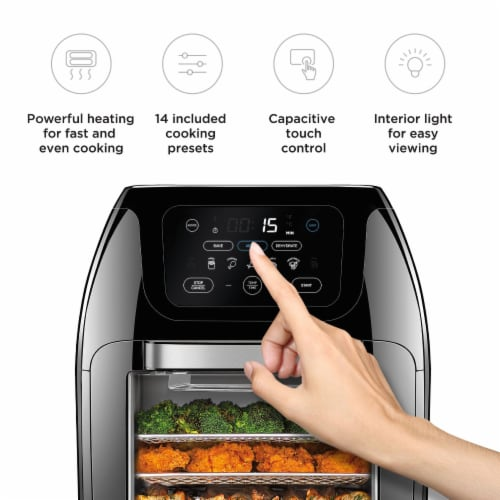 Chefman Digital Air Fryer + Oven - Black Perspective: right