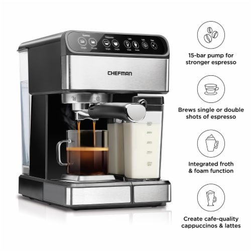 Chefman 6-in-1 Espresso Machine Perspective: right