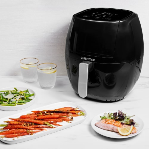 Chefman TurboFry Touch Air Fryer - Black Perspective: right