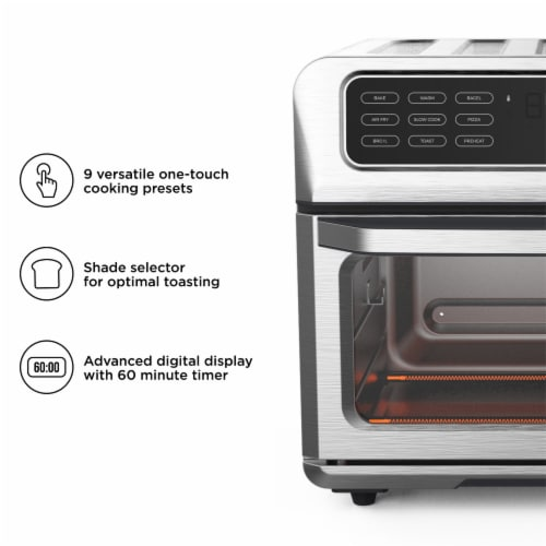 Chefman Stainless Steel Dual-Function Air Fryer and Toaster Oven Perspective: right