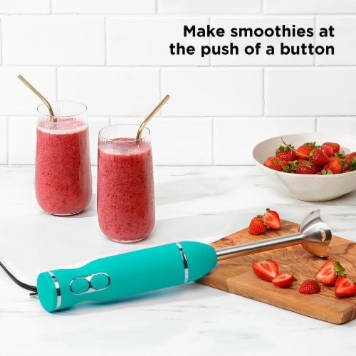ChefmanImmersion Stick Hand Blender - Turquoise Perspective: right