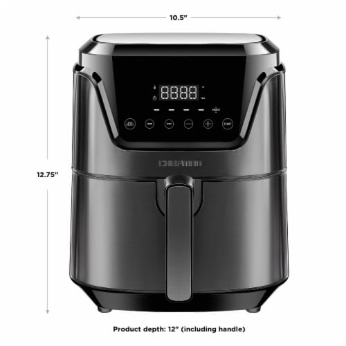 Chefman TurboFry Touch Digital Air Fryer - Black Perspective: right