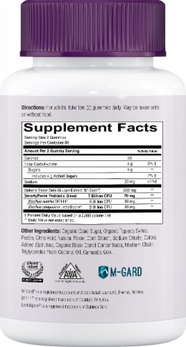 SmartyPants Adult Probiotic and Prebiotic Immunity Formula Blueberry Gummies Perspective: right